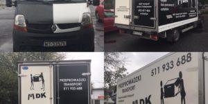 Ciężarówki z logo MDK Przeprowadzki